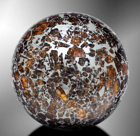 49023: SEYMCHAN SPHERE - PALLASITIC METEORITE FASHIONED