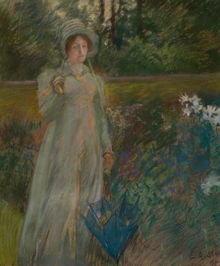 78001: EDWIN AUSTIN ABBEY (American, 1852-1911) Woman i