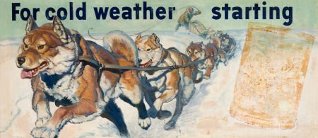 """78008: AMERICAN ARTIST (20th Century) """"For Cold Weather"""