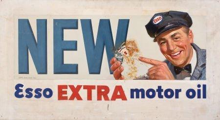 78010: AMERICAN ARTIST (20th Century) Esso Extra Motor