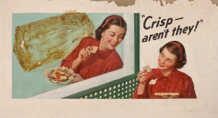 """78011: AMERICAN ARTIST (20th Century) """"Crisp- Aren't Th"""