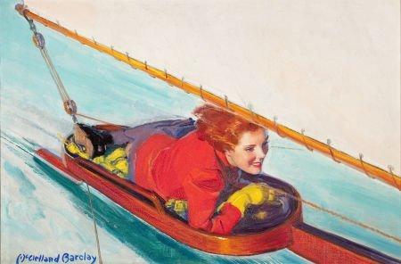 78018: MCCLELLAND BARCLAY (American, 1891-1943) Woman i
