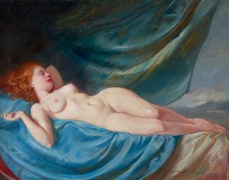 78314: MARIA SZÁNTHÓ (Hungarian, 1898-1984) Reclining N
