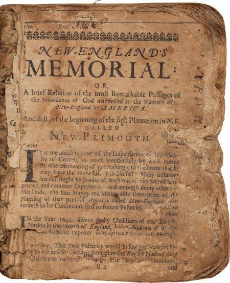 36001: [Nathaniel Morton. New-Englands Memoriall: or, A
