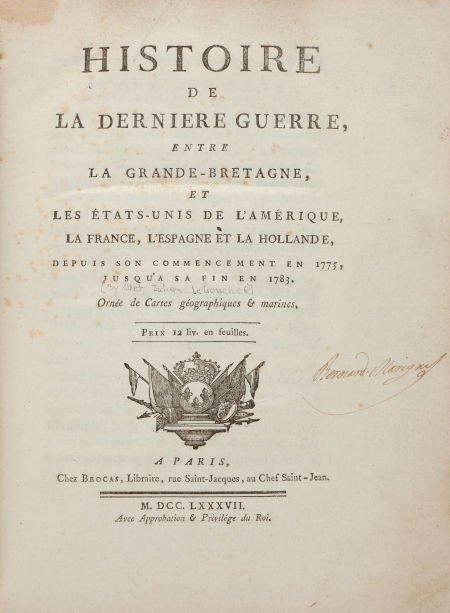 36020: [Odet Julien Leboucher]. Histoire de la Derniere