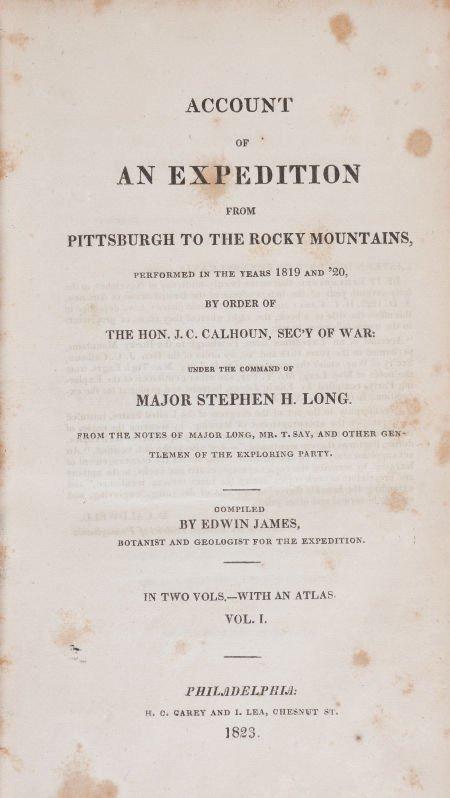 36024: [Major Stephen H. Long]. Edwin James. An Account