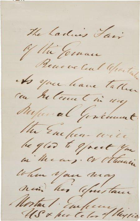 34011: Emperor Norton Autograph Letter Signed