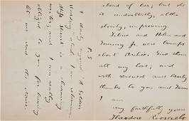 34126: Theodore Roosevelt Autograph Letter Signed.