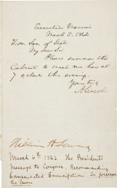 34099: Abraham Lincoln Autograph Letter Signed