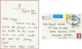 34156: Princess Diana Autograph Letter Signed