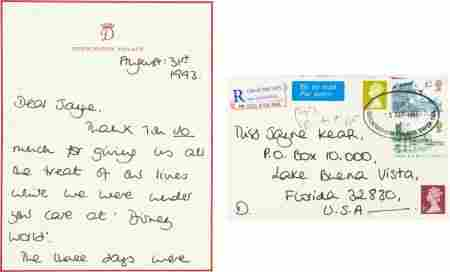 Princess Diana Autograph Letter Signed