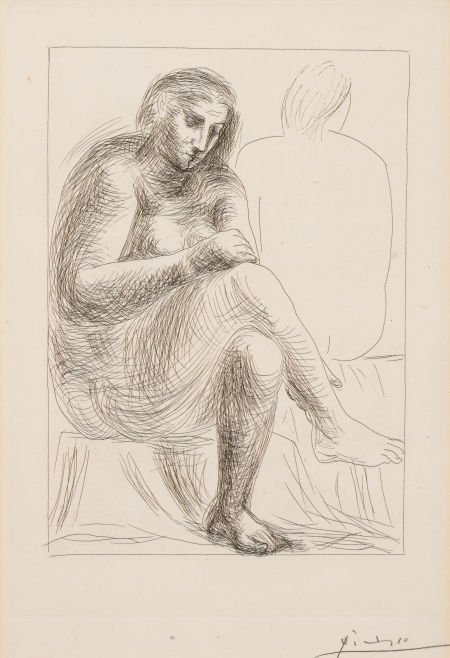 64001: PABLO PICASSO (Spanish, 1881-1973) Au bain (from