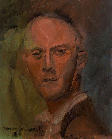 64009: JACQUES VILLON (French, 1875-1963) Tête, 1929 Oi