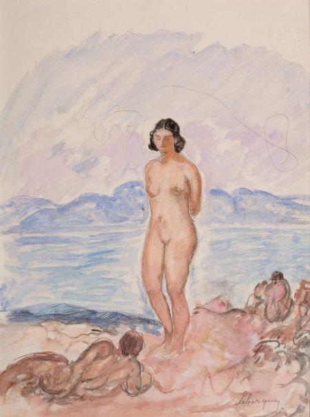 64011: HENRI BAPTISTE LEBASQUE (French, 1865-1937) Nude