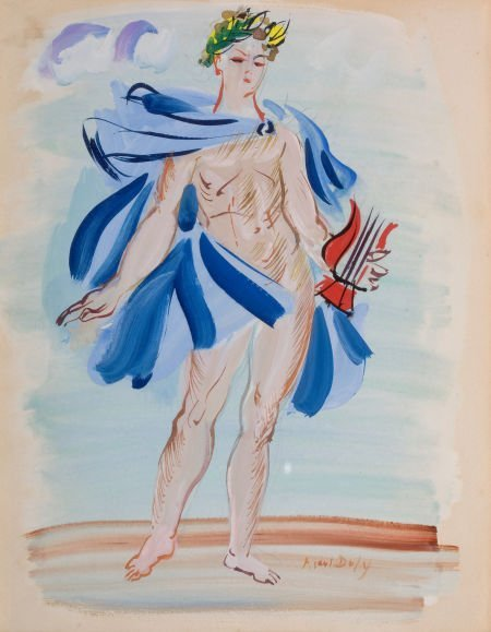 64012: RAOUL DUFY (French, 1877-1953) La Poète Assasine