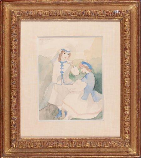 64014: MARIE LAURENCIN (French, 1885-1956) Deux jeunes
