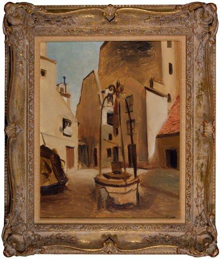 64019: ANDRÉ DERAIN (French, 1880-1954) Place au Puit (