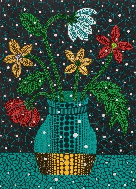64138: YAYOI KUSAMA (Japanese, b. 1929) Flowers, 1997 C