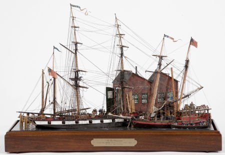 88003: SCALE SHIP MODEL DIORAMA 'IN FOR PROVISIONS' Ame