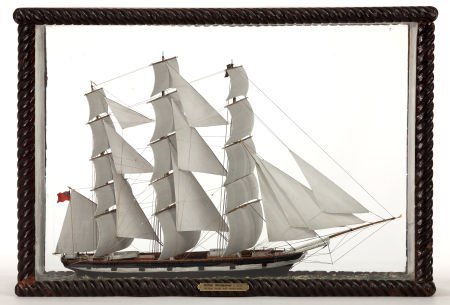 88014: VINTAGE SAILOR'S MODEL OF A BRITISH WINDJAMMER W