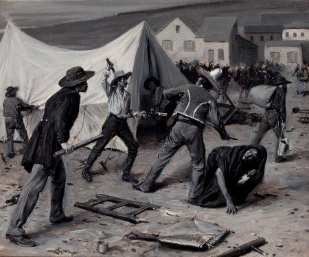 76008: GILBERT GAUL (American, 1855-1919) Revolution on