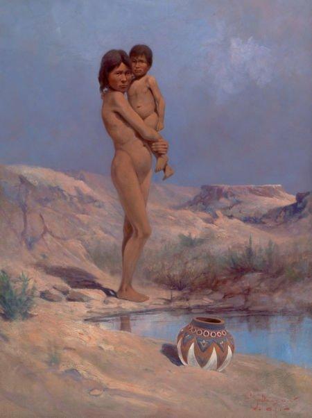 76012: EDGAR SAMUEL PAXSON (American, 1852-1919) Apache
