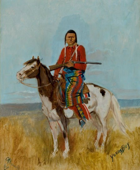 76021: CHARLES MARION RUSSELL (American, 1864-1926) Por
