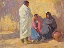 76114: JOSEPH HENRY SHARP (American, 1859-1953) Taos In