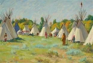76115: JOSEPH HENRY SHARP (American, 1859-1953) The Blu