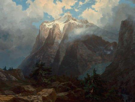 76040: ALBERT BIERSTADT (American, 1830-1902) Mount Bre