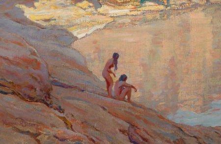 76165: MAYNARD DIXON (American, 1875-1946) Desert Pool,