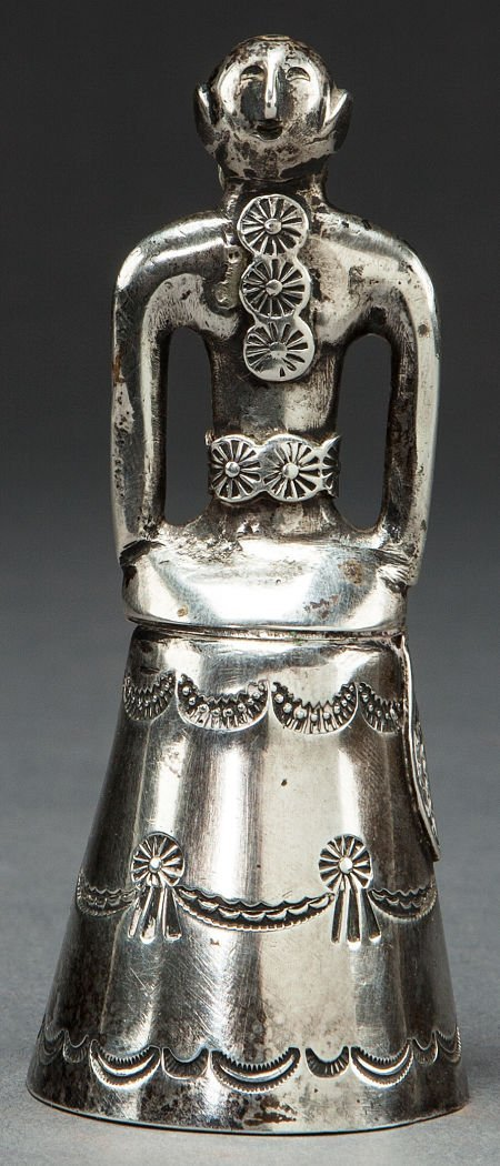 50007: A NAVAJO SILVER MOTHER-IN-LAW'S BELL c. 1940