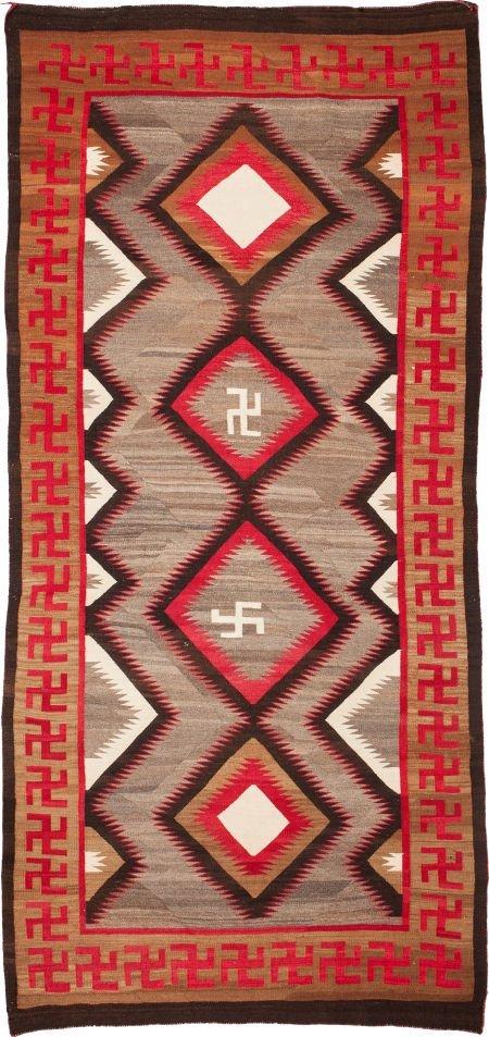 50022: A NAVAJO REGIONAL RUG Ganado c. 1920