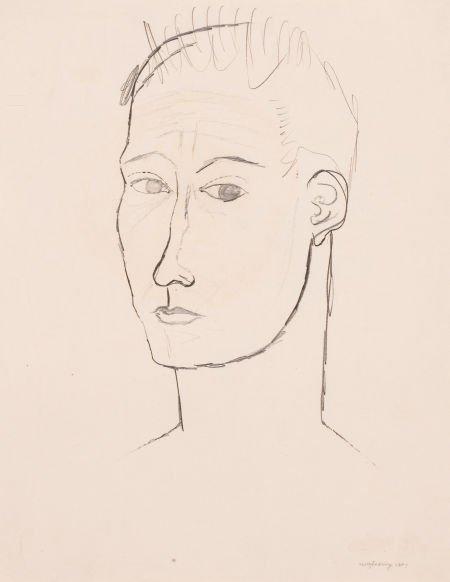 76001: KELLY FEARING (American, 1918-2011) Self-Portrai