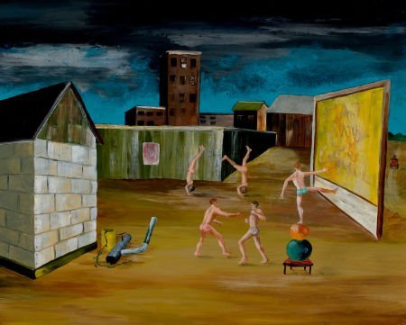 76002: KELLY FEARING (American, 1918-2011) Back Lot Reh