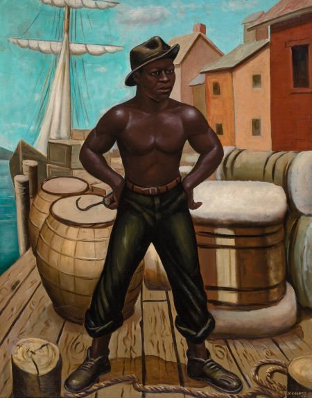 76038: SAMUEL A. COUNTEE (American, 1909-1959) The Long