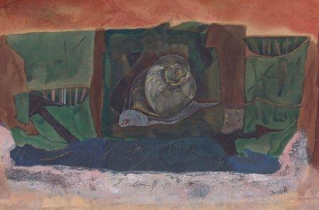 76004: KELLY FEARING (American, 1918-2011) Snail, 1947