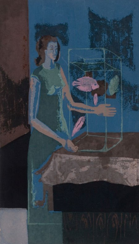 76006: KELLY FEARING (American, 1918-2011) The Aquarist