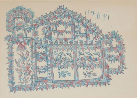 76027: FRANK JONES (American, 1900-1969) Chinese House