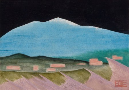76014: BILL BOMAR (American, 1919-1991) Snow Mountain W