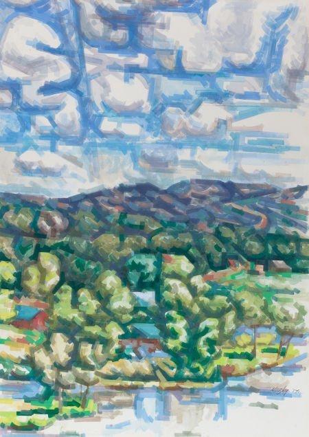 76017: LOREN MOZLEY (American, 1905-1989) Lake Travis,