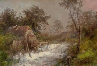 73087: HERMANN HERZOG (American, 1832-1932) The Old Mil