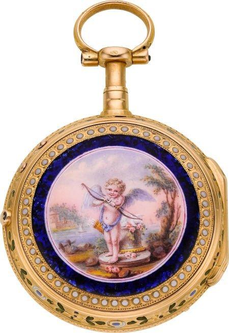 60008: Chatenay Versailles Gold & Enamel Quarter Hour D