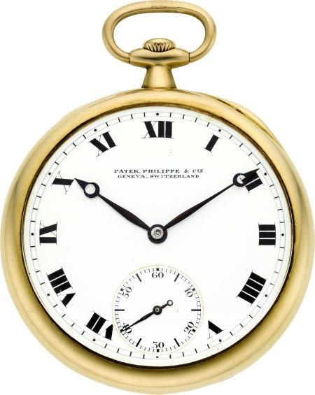 60018: Patek Philippe Gent's 18k Gold Pocket Watch, cir