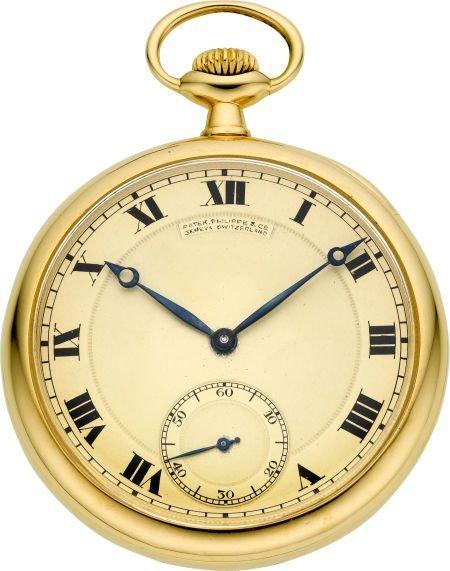 60019: Patek Philippe Gent's Gold Pocket Watch, circa 1