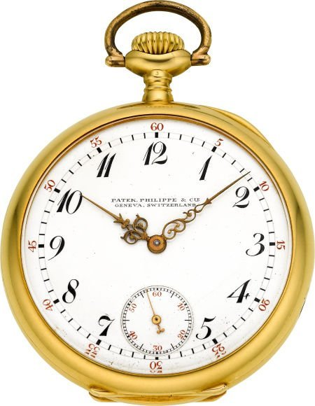 60021: Patek Philippe & Co. Gold Pocket Watch With Orig