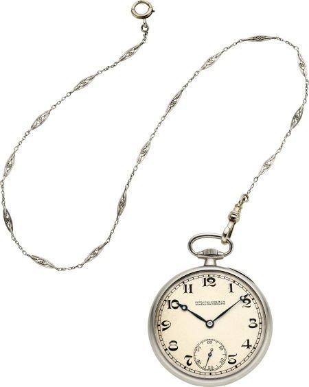 60022: Patek Philippe & Co. Fine Platinum Pocket Watch
