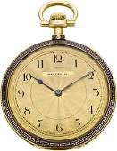 60025 Patek Philippe Gold  Enamel Pocket Watch For Sp