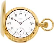 60113 Waltham Rare 18k Gold Five Minute Repeater 16 S