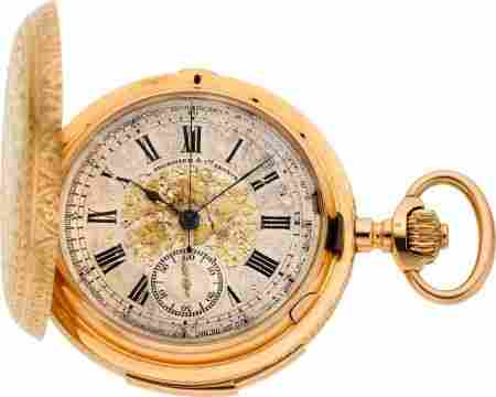 60133: LeCoultre & Co. Ornate Gold Minute Repeater With